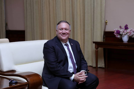 US Secretary of State Mike Pompeo visiting Sudan, 2020.
