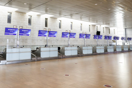 Ben-Gurion Airport is empty amid the coronavirus pandemic.