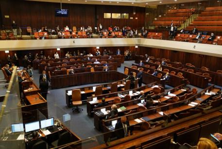 The Knesset debates a dispersal bill, December 2, 2020