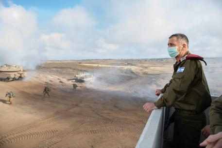 IDF Chief of Staff Aviv Kochavi overlooks a military exercise