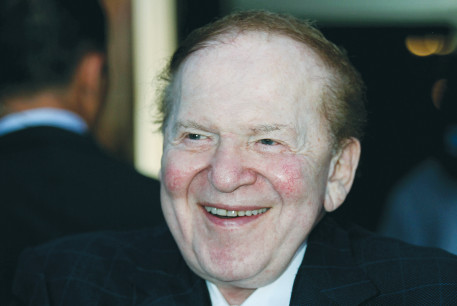 SHELDON ADELSON attends an American Independence Day celebration in 2009.