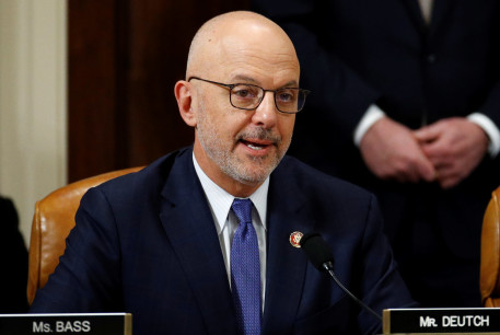 Rep. Ted Deutch, D-Fla., votes to approve the second article of impeachment against President Donald Trump during a House Judiciary Committee meeting on Capitol Hill, in Washington.