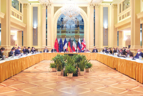 A RECENT MEETING of the JCPOA Joint Commission in Vienna. Can Israel convince the Biden administration to stop its race back to the deal?