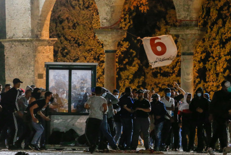 Israel Police clashes with rioters outside of al-Aqsa Mosque on the Temple Mount