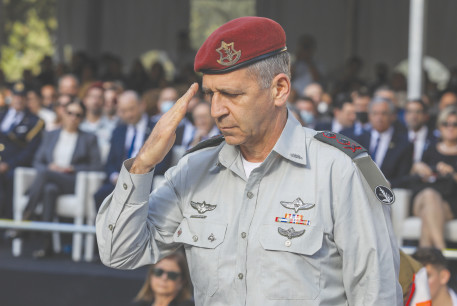 MINISTERS ARE certain he is running for political office. IDF Chief of Staff Lt.-Gen. Aviv Kohavi at the Rabin memorial this week.