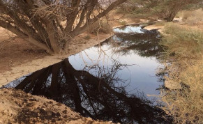 Oil spill near Eilat