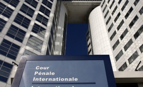 The entrance of the International Criminal Court (ICC) is seen in The Hague