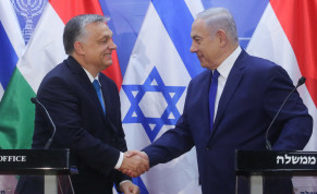 Prime Minister Benjamin Netanyahu meets with Hungary's controversial right-wing, anti-immigrant prime minister, Viktor Orban who is visiting Israel