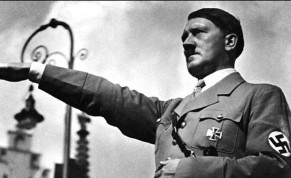 German Fuhrer Adolph Hitler doing a Nazi salute