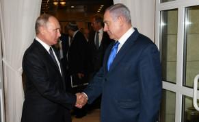 Prime Minister Benjamin Netanyahu says farewell to Russian President Vladimir Putin