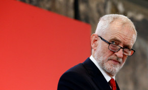 Britain's opposition Labour Party leader Jeremy Corbyn reacts at a launch event for the Labour party's general election campaign in London, Britain October 31, 2019.