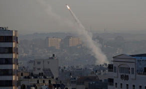 Rocket fired from Gaza toward Israel, November 12, 2019
