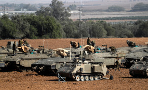 IDF tanks along the Gaza border