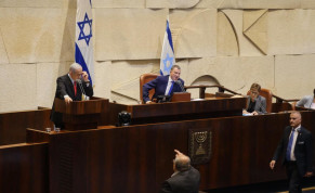 Joint List MK Ahmad Tibi (below) yells at Prime Minister Benjamin Netanyahu at the Knesset on Wednesday