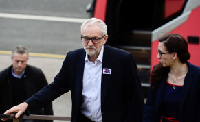 UK Labour Party leader Jeremy Corbyn campaigns on Sunday for the upcoming elections.