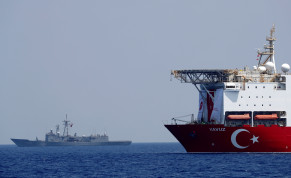 Turkish drilling vessel Yavuz is pictured in the eastern Mediterranean See off Cyprus