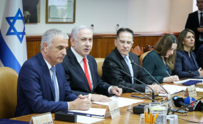 Prime Minister Benjamin Netanyahu attends a cabinet meeting on December 15, 2019