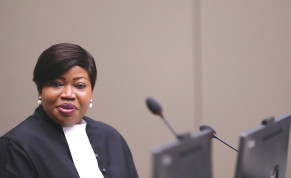 ICC CHIEF PROSECUTOR Fatou Bensouda in The Hague earlier this year