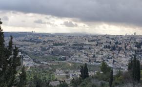 Jerusalem, from the balcony of Hebrew University Mount Scopus campus