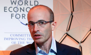 Yuval Noah Harari of Hebrew University of Jerusalem attends a session at the 50th World Economic Forum (WEF) annual meeting in Davos, Switzerland, January 21, 2020