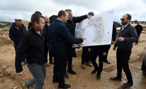 Minister of Defense Naftali Bennett visits new housing projects in Judea and Samaria