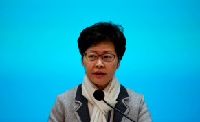 Hong Kong Chief Executive Carrie Lam speaks during a news conference in Hong Kong, China January 25, 2020