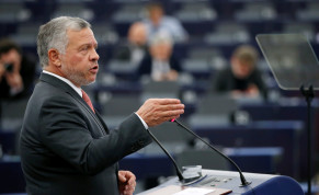 King of Jordan Abdullah II addresses the European Parliament in Strasbourg, France January 15, 2020.