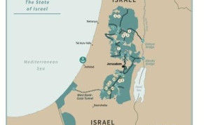 The new Israeli-Palestinian border map