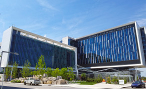 The Sidney and Lois Eskenazi Hospital in Indianapolis, Indiana, USA