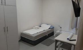 Isolation room featuring a sensor that can monitor patients