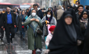 Iranian women wear protective masks to prevent contracting a coronavirus, as they walk at Grand Bazaar in Tehran, Iran February 20, 2020
