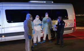 MDA teams evacuating those who've landed from Korea into quarantine