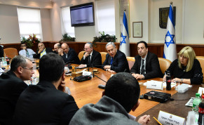 Prime Minister Benjamin Netanyahu chairs a meeting on Israel's preparations for the implications of the coronavirus, Prime Minister's Office in Jerusalem, Febraury 25, 2020