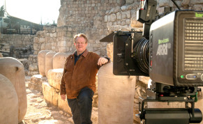 CBN CEO Gordon Robertson on the Ophel in Jerusalem's Davidson Center. Archeologist Eilat Mazar believes this area to be a bakery in the royal palace of King Solomon. The large jars were used to store flour, oil and date honey for the royal bakery.