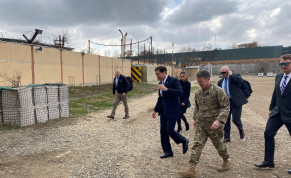 US Defense Secretary Mark Esper arrives in Kabul, Afghanistan February 29, 2020