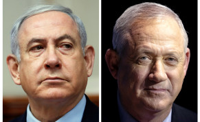 Likud leader Benjamin Netanyahu and Blue and White leader Benny Gantz