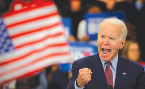 DEMOCRATIC US presidential candidate Joe Biden speaks during a campaign stop in Detroit, Michigan, Monday.