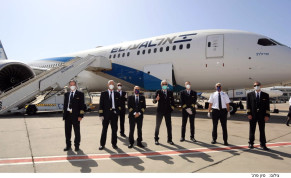 The El Al flight staff that manned the longest flight in Israeli aviation history, returning stranded Israeli back Australia and New Zealand on April 3 2020