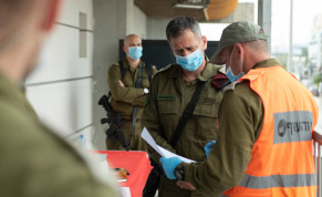 IDF Chief of Staff Aviv Kochavi in Bnei Brak on Sunday April 5 2020