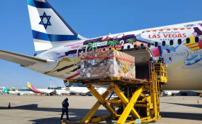 El Al flight carries reagents for coronavirus tests and protective suits from South Korea