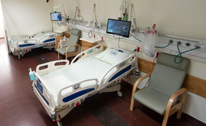 An empty hospital bed at Hasharon Hospital
