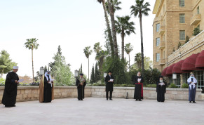 Religious leaders gather at Jerusalem's King David Hotel to join together in the prayer