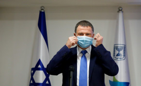Minister of Health Yuli Edelstein speaks during a press conference about the coronavirus COVID-19, at the Health Ministry in Jerusalem on July 6, 2020.