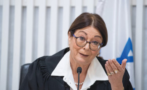 HIGH COURT OF JUSTICE President Esther Hayut hears a petition at the Supreme Court in Jerusalem