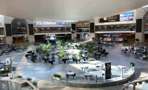 NEARLY EMPTY: Ben-Gurion Airport waiting area