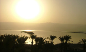 The sun rises over the Dead Sea, Israel