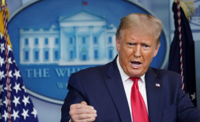 U.S. President Donald Trump addresses reporters during a news conference in the Brady Press Briefing Room at the White House in Washington, U.S., September 10, 2020