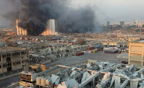 FILE PHOTO: Smoke rises from the site of an explosion in Beirut, Lebanon August 4, 2020