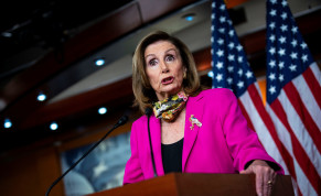 U.S. House Speaker Nancy Pelosi (D-CA) speaks during a news conference on Capitol Hill in Washington, U.S., September 18, 2020