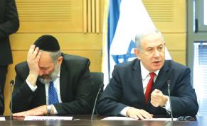 Prime Minister Benjamin Netanyahu and Shas chairman Aryeh Deri.